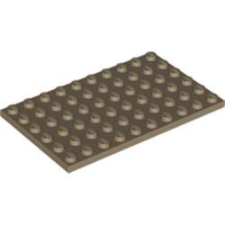 Dark Tan Plate 6 x 10 - new