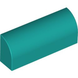 Dark Turquoise Slope, Curved 1 x 4 x 1 1/3