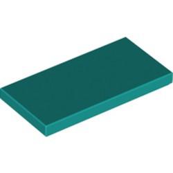 Dark Turquoise Tile 2 x 4 - new