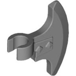 Flat Silver Minifigure, Weapon Axe Head, Clip-on