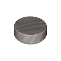 Flat Silver Tile, Round 1 x 1 - new