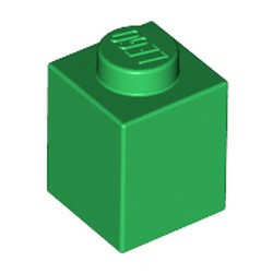 Green Brick 1 x 1 - new