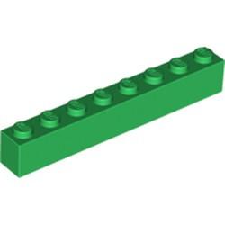 Green Brick 1 x 8 - used