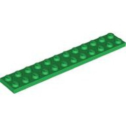 Green Plate 2 x 12 - new