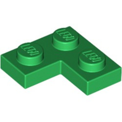Green Plate 2 x 2 Corner - used
