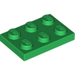 Green Plate 2 x 3 - new