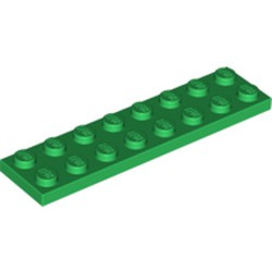 Green Plate 2 x 8