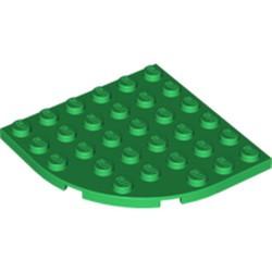 Green Plate, Round Corner 6 x 6 - used