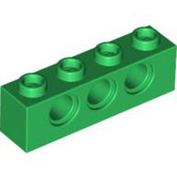 Green Technic, Brick 1 x 4 with Holes