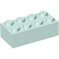 Light Aqua Brick 2 x 4 - new