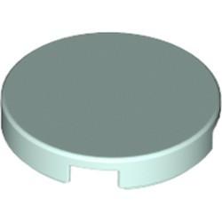Light Aqua Tile, Round 2 x 2 with Bottom Stud Holder - used