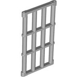 Light Bluish Gray Bar 1 x 4 x 6 Grille with End Protrusions - used