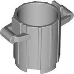 Light Bluish Gray Container, Trash Can with 2 Cover Holders - new
