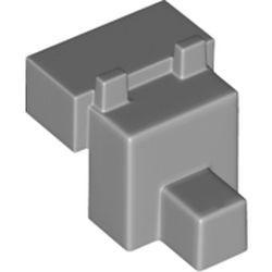 Light Bluish Gray Creature Head Pixelated with Muzzle