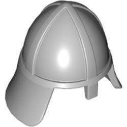 Light Bluish Gray Minifigure, Headgear Helmet Castle with Neck Protector - used