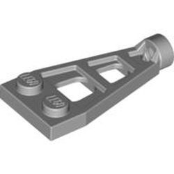 Light Bluish Gray Plate, Modified 1 x 2 with Long Stud Receptacle (Space Wing)