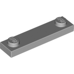 Light Bluish Gray Plate, Modified 1 x 4 with 2 Studs without Groove - new