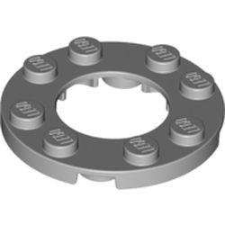 Light Bluish Gray Plate, Round 4 x 4 with 2 x 2 Hole