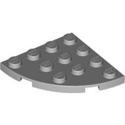 Light Bluish Gray Plate, Round Corner 4 x 4