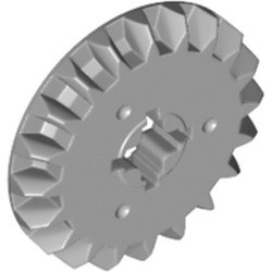 Light Bluish Gray Technic, Gear 20 Tooth Bevel