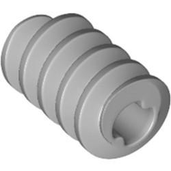 Light Bluish Gray Technic, Gear Worm Screw, Long, Axle Opening Type II - new