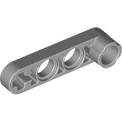 Light Bluish Gray Technic, Liftarm 1 x 4 Thin with Stud Connector - used
