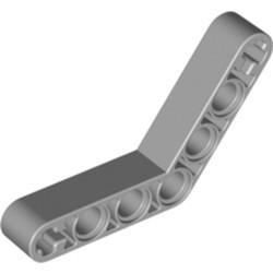 Light Bluish Gray Technic, Liftarm, Modified Bent Thick 1 x 7 (4 - 4) - used