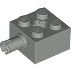 Light Gray Brick, Modified 2 x 2 with Pin and Axle Hole - used