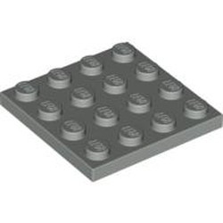 Light Gray Plate 4 x 4 - used