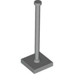 Light Gray Support 2 x 2 x 5 Bar on Tile Base with Solid Stud and Stop Ring