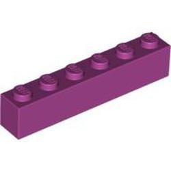 Magenta Brick 1 x 6