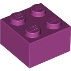 Magenta Brick 2 x 2