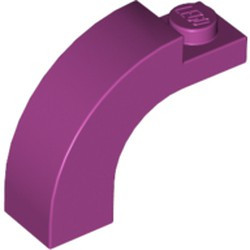 Magenta Brick, Arch 1 x 3 x 2 Curved Top - used