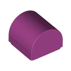 Magenta Slope, Curved 1 x 1 Double