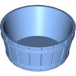 Medium Blue Container, Barrel Half Large