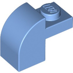 Medium Blue Slope, Curved 2 x 1 x 1 1/3 with Recessed Stud