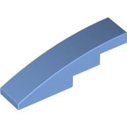 Medium Blue Slope, Curved 4 x 1 - new