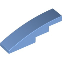 Medium Blue Slope, Curved 4 x 1