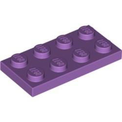 Medium Lavender Plate 2 x 4 - used