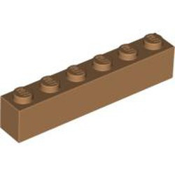 Medium Nougat Brick 1 x 6 - new