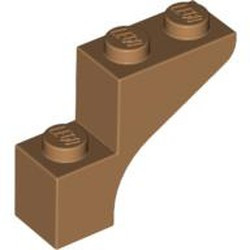Medium Nougat Brick, Arch 1 x 3 x 2 - used