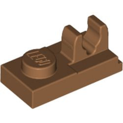 Medium Nougat Plate, Modified 1 x 2 with Clip on Top
