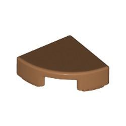 Medium Nougat Tile, Round 1 x 1 Quarter