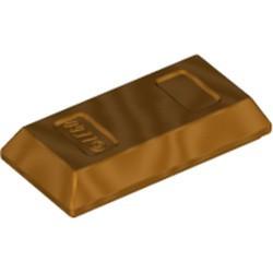 Metallic Gold Minifigure, Utensil Ingot / Bar - new