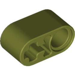 Olive Green Technic, Liftarm 1 x 2 Thick with Pin Hole and Axle Hole - new