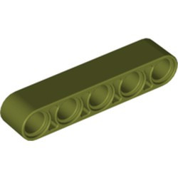 Olive Green Technic, Liftarm 1 x 5 Thick - new
