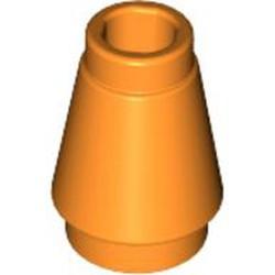 Orange Cone 1 x 1 with Top Groove - new
