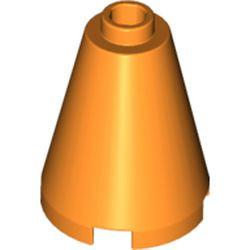 Orange Cone 2 x 2 x 2 - Open Stud