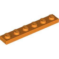 Orange Plate 1 x 6