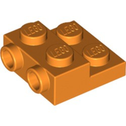 Orange Plate, Modified 2 x 2 x 2/3 with 2 Studs on Side